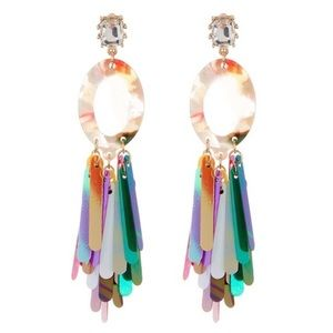 Natasha Accessories Limited Fringe Drop Earrings